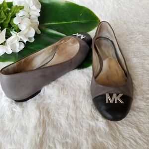 Michael Kors Halley Cap Toe Flats -Gray 9